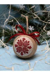 """Ялинкова кулька """"Різдвяна зірка"""" вишневого кольору"""