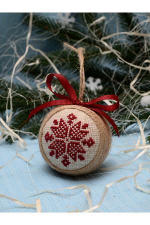 """Елочный шар """"Рождественская звезда"""" вишневого цвета"""