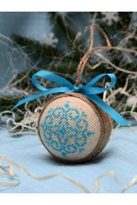 """Ялинкова кулька """"Морозні візерунки"""" блакитного кольору"""