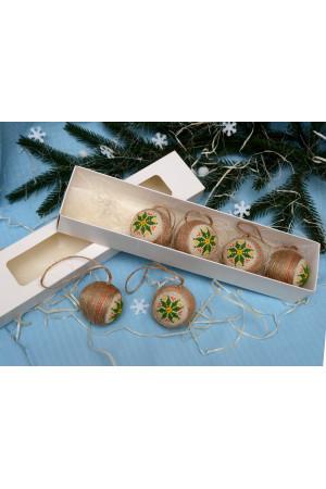 Набір ялинкових кульок «Різдвяна зірка»