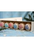 Набір ялинкових кульок «Крижинка»: різнокольоровий