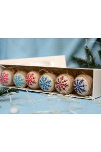 Набор елочных шаров «Льдинка» разноцветный