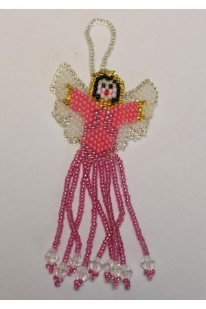 Ангелик з рожевого бісеру
