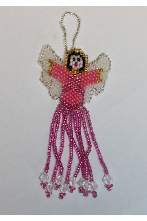 Ангелочек из розового бисера