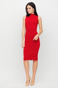 Платье «Одри» красного цвета