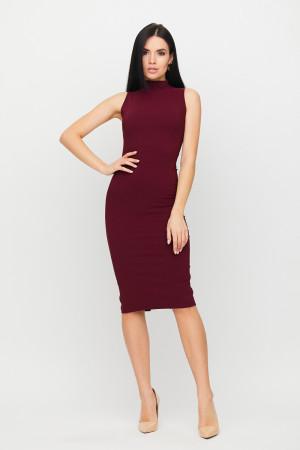Платье «Одри» бордового цвета