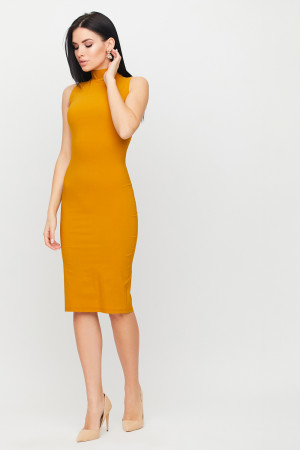 Платье «Одри» горчичного цвета