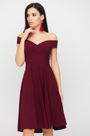 Сукня «Вермут» бордового кольору