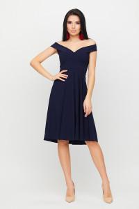 Платье «Вермут» темно-синего цвета