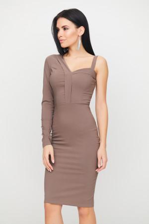 Платье «Перу» цвета капучино