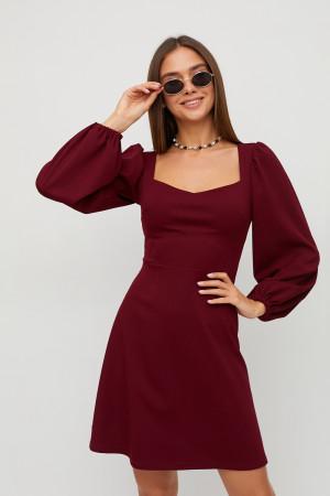 Сукня «Пальміра» кольору марсала