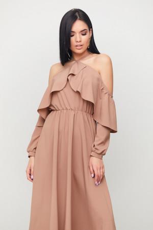 Платье «Френсис» цвета капучино