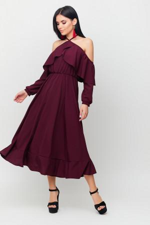 Сукня «Френсіс» бордового кольору
