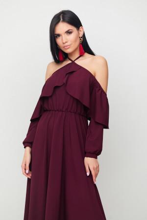 Платье «Френсис» бордового цвета