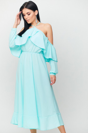 Платье «Френсис» мятного цвета