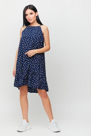 Платье «Юта» темно-синего цвета