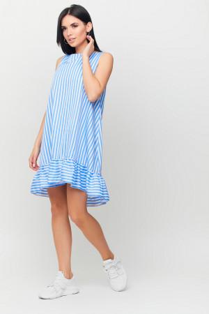 Платье «Дарина» бело-голубого цвета