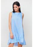 Сукня «Дарина» біло-блакитного кольору