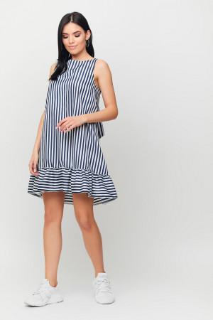 Платье «Дарина» черно-белого цвета