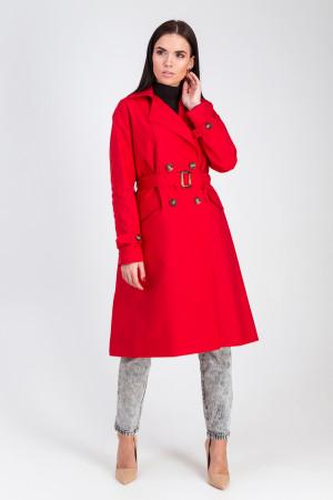 Тренч-плащ  «Лоран» червоного кольору