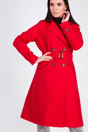 Тренч-плащ  «Лоран» красного цвета