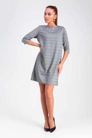 Платье «Софи» серого цвета в клетку