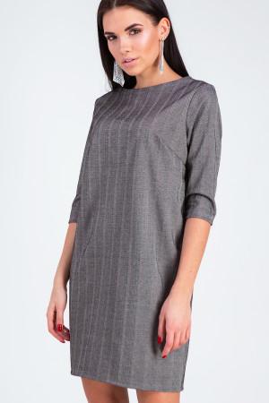 Сукня «Софі» темно-сірого кольору в рубчик