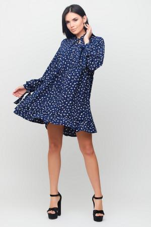 Платье «Энели» темно-синего цвета