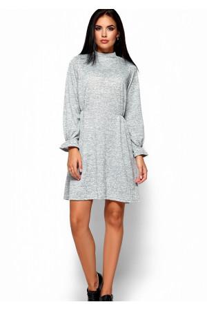 Платье «Павлина» серого цвета