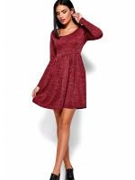 Платье «Канни» цвета марсала
