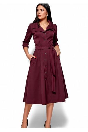 Платье «Монако» цвета бургунди