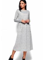 Платье «Николетта» серого цвета