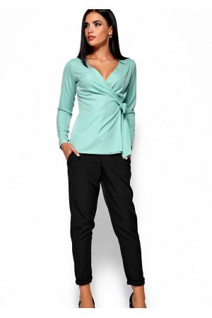 Блуза «Сабрина» мятного цвета