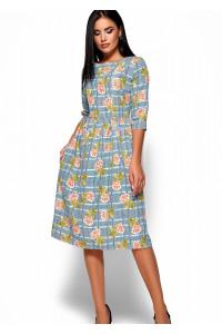 Платье «Эмилия» голубого цвета