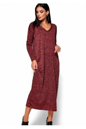 Платье «Дороти» бордового цвета