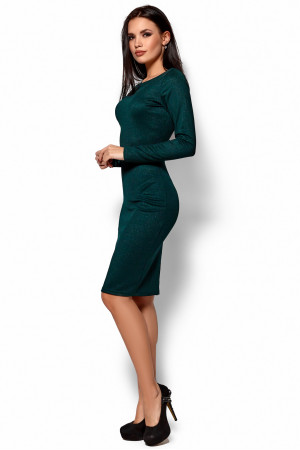 Платье «Люси» темно-зеленого цвета