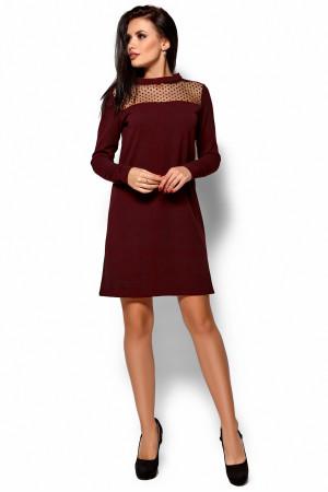 Сукня «Рубі» кольору марсала