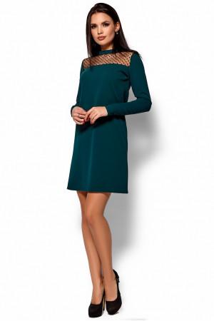Платье «Руби» темно-зеленого цвета