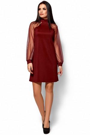 Сукня «Рената» кольору марсала