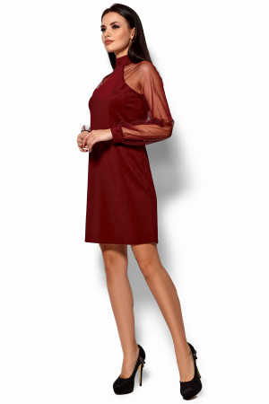 Платье «Рената» цвета марсала
