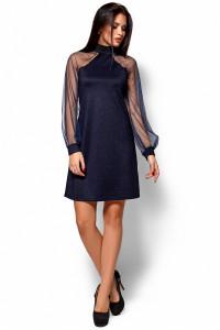 Платье «Рената» темно-синего цвета