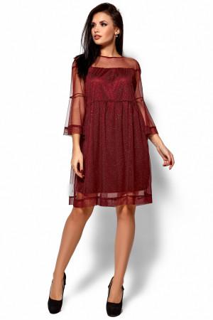 Платье «Иви» цвета марсала