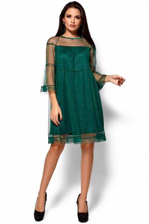 Платье «Иви» темно-зеленого цвета