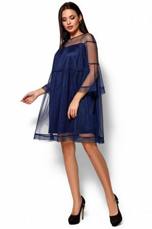Платье «Иви» темно-синего цвета
