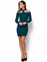 Платье «Юлиана» темно-зеленого цвета