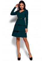 Платье «Шарлиз» темно-зеленого цвета