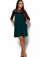 Платье «Ангола» темно-зеленого цвета