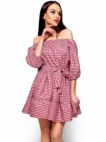 Платье «Дженнифер» красного цвета
