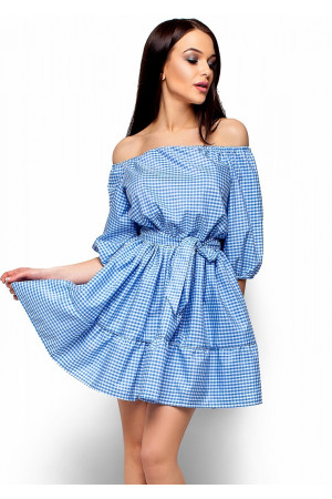 Платье «Дженнифер» голубого цвета