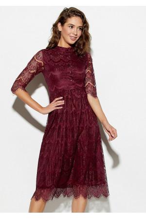 Платье «Шанти» цвета бургунди